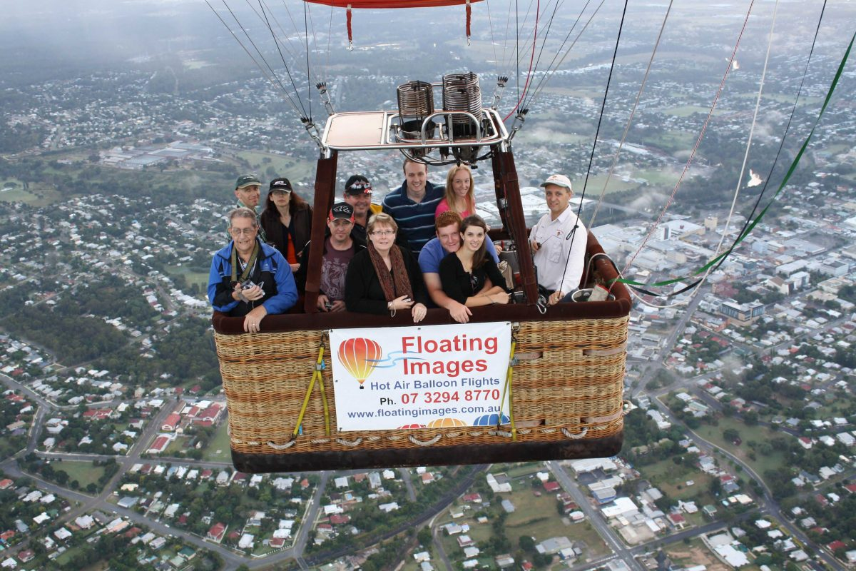Greater Brisbane Scenic Hot Air Balloon Flight Package - 1 hr flight & self drive