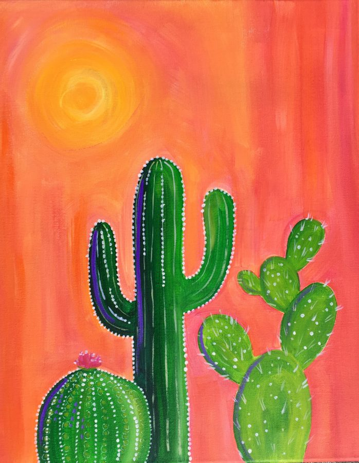 CAKE & CANVAS SOCIAL - Happy Cacti - June 20, 1000-1230pm
