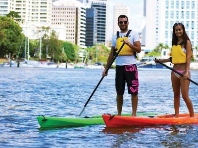 Brisbanes Stand-up Paddle-boarding
