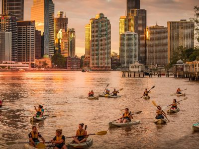 Brisbanes Sunset Paddle, Dips & Drinks