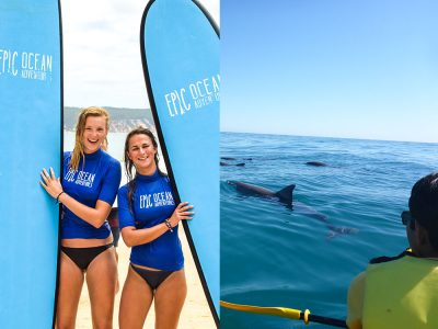 Ultimate Combo Dolphin View Kayak Tour  Surf Lesson 4wd Beach Adventure Rainbow Beach