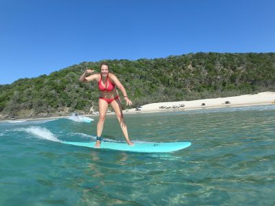Learn to Surf Australias Longest Wave  Great Beach Drive Adventure  - Rainbow Beach 3 hour trip